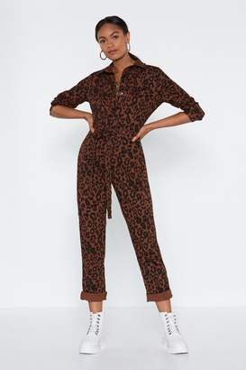 Nasty Gal Claw Your Way to the Top Leopard Jumpsuit