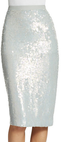 French Connection Sequin Pencil Skirt
