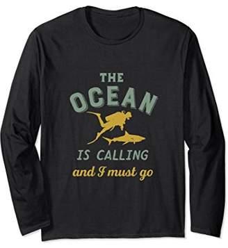 Vintage Scuba Diving T-shirt for Diver The Ocean Is Calling