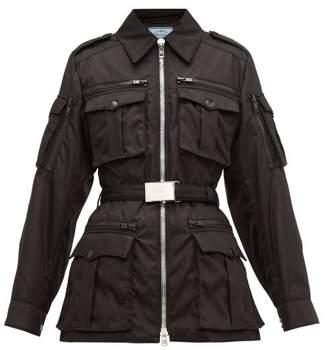 Prada Belted Padded Nylon Utility Jacket - Womens - Black