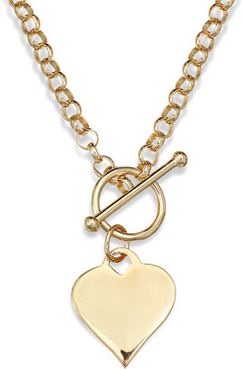 FINE JEWELRY 14K Gold Over Sterling Silver Heart Toggle Link Necklace $312.48 thestylecure.com