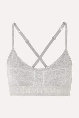 Calvin Klein Underwear Body Ribbed Cotton-jersey Soft-cup Bra - Gray