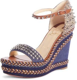 04db8e2e470 Christian Louboutin Blue Women s Sandals - ShopStyle