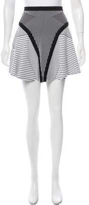 Ohne Titel Striped Flare Mini Skirt