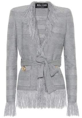 Balmain Metallic wool jacket
