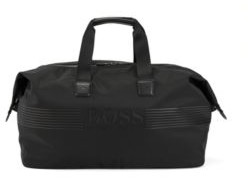 BOSS Logo-print holdall in structured nylon