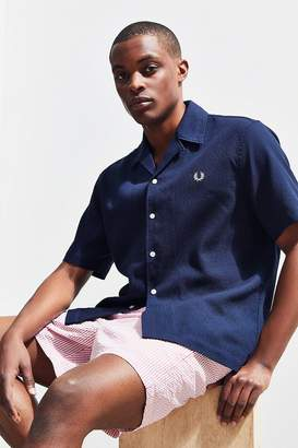 Fred Perry Pique Short Sleeve Button-Down Shirt