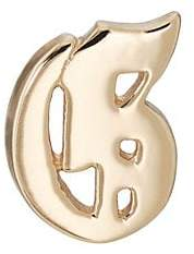 Bianca Pratt Women's Gothic Initial Stud Earring - Gold