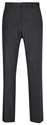 Burton Mens Big & Tall Charcoal Tailored Fit Stretch Trousers