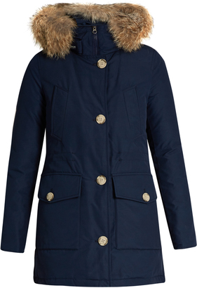 WOOLRICH JOHN RICH & BROS. Arctic fur-trimmed cotton-blend canvas parka $795 thestylecure.com