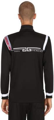 Givenchy Zip-Up Jersey Logo Sweat Jacket