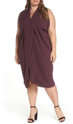 Rachel Roy Daina Drapey Midi Dress
