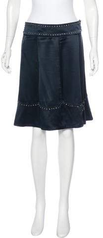 Marc by Marc Jacobs Embellished Silk Skirt