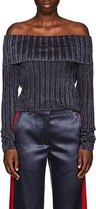 Sies Marjan Women's Daphne Rib-Knit Velour Sweater - Graphite