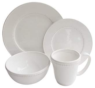 Design Guild Carly Bead 16 Piece Dinnerware Set, Service for 4