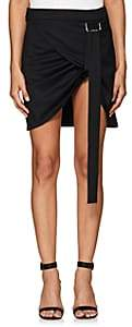 Helmut Lang Women's Wool Wrap Miniskirt-Black
