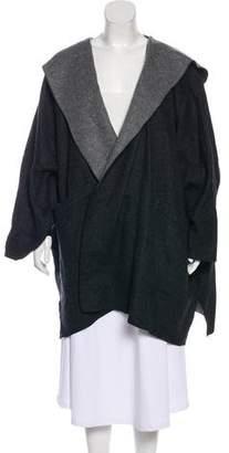 eskandar Hooded Open Front Jacket