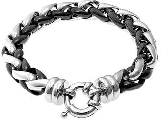 FINE JEWELRY Mens Two-Tone Stainless Steel Chain Bracelet
