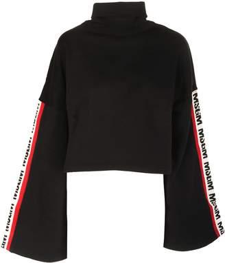 MSGM Logo Sleeve Panel Sweater