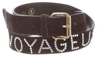 Sonia Rykiel Embellished Suede Belt