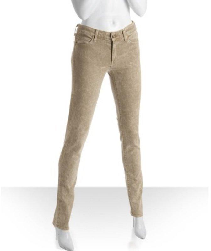 Vince khaki acid mud wash skinny jeans