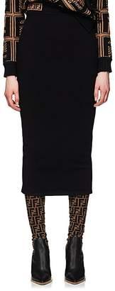 Fendi Women's Logo Knit Midi-Skirt
