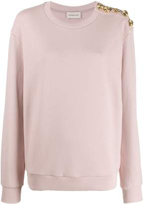 Alexandre Vauthier button-embellished sweater