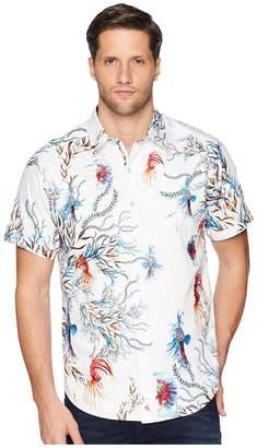 Robert Graham Deep Sea Short Sleeve Woven Shirt Men's Clothing