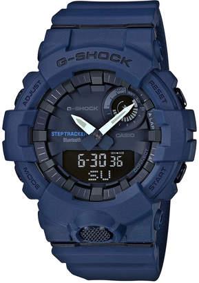 G-Shock Men's Analog-Digital Steptracker Navy Blue Resin Strap Step Tracker Watch 48.6mm