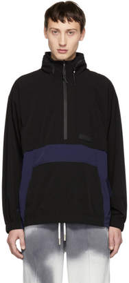 Perks And Mini Black and Navy Odyssey Track Jacket