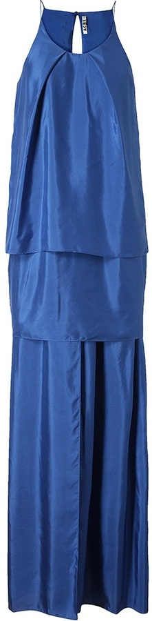Acne 'Satya' Layered Crepe Maxi Dress