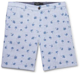 Club Monaco Maddox Slim-Fit Printed Cotton Shorts