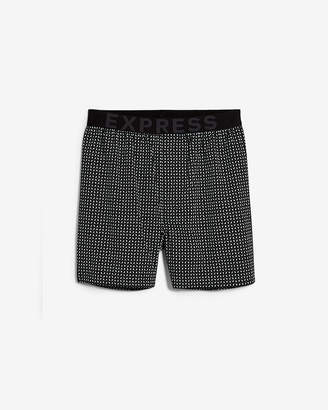 Express Micro Print Exposed Waistband Woven Boxers