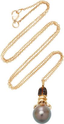 Daniela Villegas Khepri 18K Rose Gold Garnet And Pearl Necklace