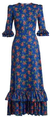 The Vampire's Wife - Cinderella Gypsy Print Cotton Dress - Womens - Blue Print