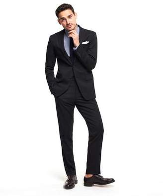 Todd Snyder White Label Sutton Suit Jacket in Italian Natural Stretch Black Wool