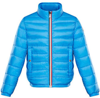 Moncler Quilted Stand-Collar Jacket, Size 4-6