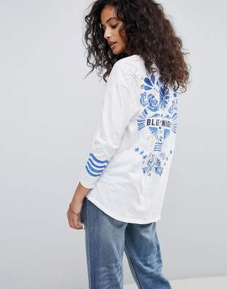 Maison Scotch Ceramic Tattoo Back Sweatshirt
