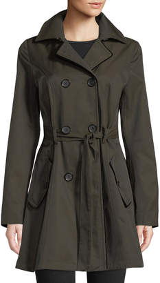 Laundry by Shelli Segal Double-Breasted Belted Trench Coat