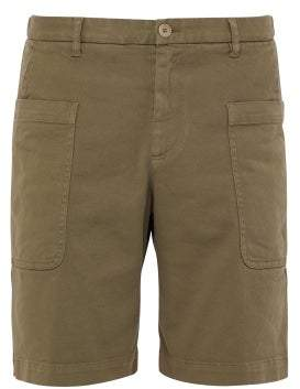 Barena Venezia - Cotton Blend Twill Cargo Shorts - Mens - Khaki