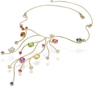 Forzieri 18k Yellow Gold Multi-Gemstones Necklace