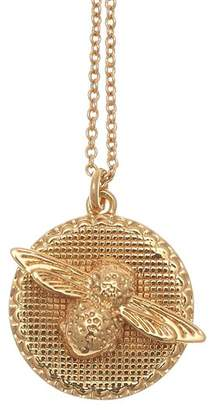 "Olivia Burton Bee Disc Necklace, 18"""