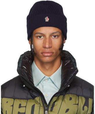 Moncler Navy Knit Beanie
