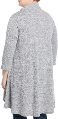 P. Luca Cowl-Neck Wrap-Front Tunic, Plus Size