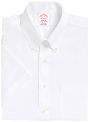 Brooks Brothers Madison Classic-Fit Dress Shirt, Non-Iron Short-Sleeve