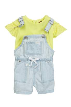 7 For All Mankind Top & Shortall Set (Baby Girls)