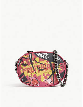 Moschino Fruitblast leather cross-body bag