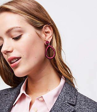 LOFT Fabric Drop Earrings