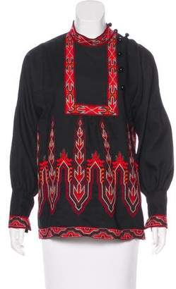 Anna Sui Embroidered Long Sleeve Tunic