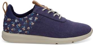 Deep Cobalt Vintage Flower Women's Cabrillo Sneakers